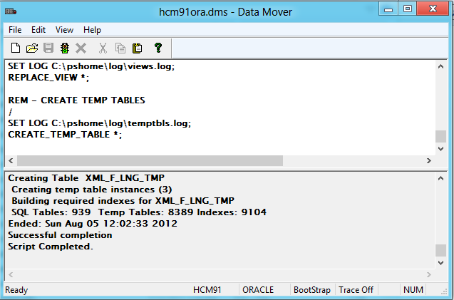 difference-between-regular-and-bootstrap-mode-in-peopletools-data-mover