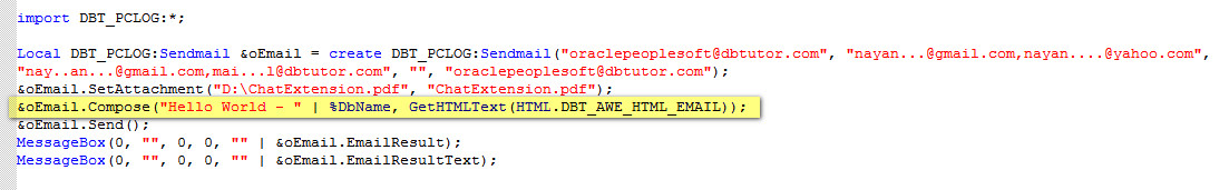With HTML Email